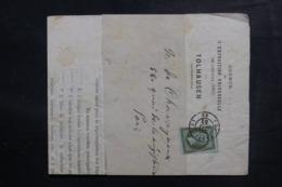 FRANCE - Type Napoléon 1 Ct Sur Bande Journal De Paris En 1862 - L 48155 - 1849-1876: Periodo Clásico