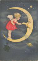 Engel Kitzelt Mond An Der Nase, Künstler-Postkarte, Verlag Meissner & Buch, Leipzig, Zeichner - Engelen