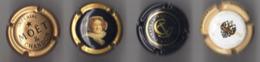 Set 4  Capsules Champagne  MOET&CHANDON Impérial Etc - Moet Et Chandon