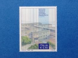 2004 ITALIA FRANCOBOLLO NUOVO STAMP NEW MNH** SCUOLE ISTITUTO TECNICO VITTORIO EMANUELE III LUCERA - 6. 1946-.. Repubblica