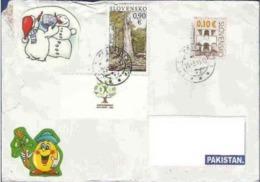 SLOVAKIA POSTAL USED AIRMAIL COVER TO PAKISTAN - Interi Postali