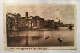 V 11039 Firenze - Veduta Dell'Arno Con Il Ponte A Santa Trinità - Firenze