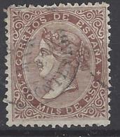 España U 0099 (o) Isabel II. 1867. Foto Exacta. - 1850-68 Reino: Isabel II