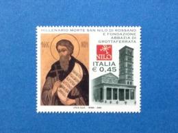 2004 ITALIA FRANCOBOLLO NUOVO STAMP NEW MNH** SAN NILO E ABBAZIA GROTTAFERRATA - 6. 1946-.. Repubblica