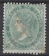 España U 0100 (o) Isabel II. 1867. Foto Exacta. - 1850-68 Reino: Isabel II