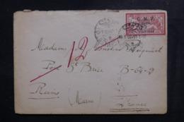 SYRIE - Affranchissement Merson Surchargé Sur Enveloppe De Beyrouth En 1922 Pour Reims - L 48165 - Syrie (1919-1945)