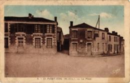 49 .. LE PUISET DORE ... LA PLACE .. HOTEL DU CHEVAL BALANC .. DURAND - France