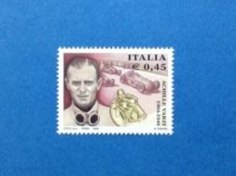 2004 ITALIA FRANCOBOLLO NUOVO STAMP NEW MNH** ACHILLE VARZI PILOTA AUTOMOBILISTICO - 1946-.. République