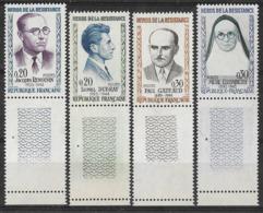 France 1961  - Héros De La Résistance - Y&T N°1288 à 1291 ** Neuf Luxe 1er Choix (gomme D'origine Intacte) - France