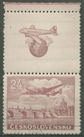 Tschechoslowakei 1946 Flugpostmarke 499 Zf Gestempelt - Tschechoslowakei/CSSR