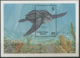Britische Jungferninseln 1988 Lederschildkröte Block 53 Postfrisch (C12628) - British Virgin Islands