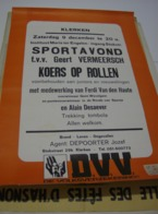 Affiche Poster - Klerken - Sportavond Koers Op Rollen Tvv Geert Vermeersch - - Affiches