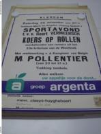 Affiche Poster - Klerken - Sportavond Koers Op Rollen Tvv Geert Vermeersch - Mmv Michel Pollentier - Affiches