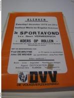 Affiche Poster - Klerken - Sportavond Koers Op Rollen Tvv Geert Vermeersch 1979 - Affiches
