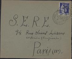 Guerre D'Espagne YT FM 10 CAD Camp Septfonds 27 ? 39 Pour SERE S.E.R.E. Service éducation Réfugiés Espagnols - Marcophilie (Lettres)