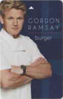 Gordon-Ramsay-Burger-Uber -Planet-Hollywood-Las-Vegas[2399]--key Card, Room Key, Schlusselkarte, Hotelkarte - Cartas De Hotels