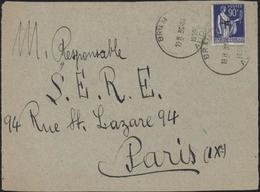 Guerre D'Espagne YT FM 10 CAD BRAM AUDE 30 10 39 Pour SERE S.E.R.E. Service éducation Réfugiés Espagnols - Marcophilie (Lettres)