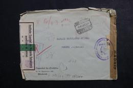 ESPAGNE - Enveloppe Commerciale De Madrid En Recommandé Pour Genève En 1943 Avec Contrôles Postaux - L 48171 - 1931-50 Briefe U. Dokumente