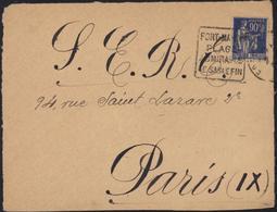 Guerre D'Espagne YT FM 10 CAD Daguin Fort Mayon Plage Sable Pour SERE S.E.R.E. Service éducation Réfugiés Espagnols - Marcophilie (Lettres)
