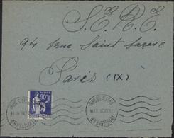 Guerre D'Espagne YT FM 10 CAD Perpignan 4 XI 39 Pour SERE S.E.R.E. Service éducation Réfugiés Espagnols - Marcophilie (Lettres)
