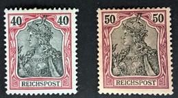 1900 Germania ( Reichspost ) Mi. 60*), 61*) - Deutschland