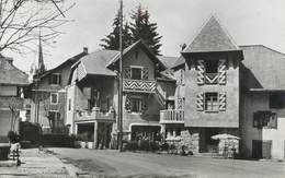 """CPSM FRANCE 74 """" Thorens - Glières, Hôtel Du Commerce"""" - Thorens-Glières"""