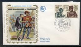 France 1969 Louis XI & Charles Le Temeraire FDC - 1960-1969