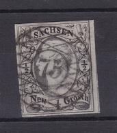 König Johann I ½ Ngr. Mit Nummernstempel 75 (= Oederan) - Saxe