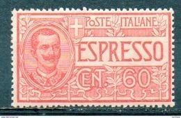 ITALIE (Royaume) - 1922-26 - Lettres Par EXPRES - N° 9 - 60 C. Rouge - 1900-44 Victor Emmanuel III.
