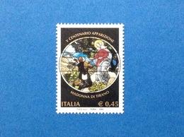 2004 ITALIA FRANCOBOLLO NUOVO STAMP NEW MNH** APPARIZIONI MADONNA DI TIRANO - 1946-.. République