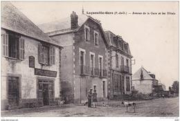 PUY DE DOME LAQUEUILLE GARE AVENUE DE LA GARE ET LES HOTELS - Frankrijk