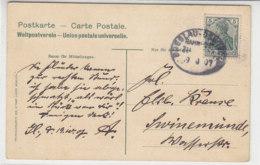 BAHNPOST Breslau-Osnabrück ZUG ? 19.10.1907 AK-Gleiwitz - Briefe U. Dokumente