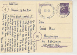 STADT BERLIN - P4 Aus BERLIN-SPANDAU 8.7.45 Zensur / Hinten Haftstelle - Zona Soviética