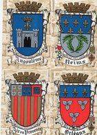 """FRANCE - Lot De 10 Cartes """" ARMOIRIES """" - Cartes Postales"""