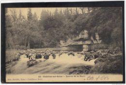 2163. CHATILLON SUR SEINE . SOURCE DE LA DOUIX .  RECTO/VERSO. EDIT. JARDELLE. TABAC.   . ANNEE . 1906 - Chatillon Sur Seine