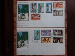 GRECIA - Olimpiadi Roma 1960 - Serie Completa Su 2 F.D.C. + Spese Postali - FDC