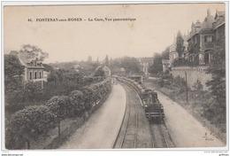 FONTENAY AUX ROSES LA GARE VUE PANORAMIQUE TRAIN 1912 TBE - Fontenay Aux Roses