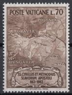 Vaticano 1963 Uf. 370 XVI Secolo Mappa Di Ungheria Moravia Polonia MNH - Geografia
