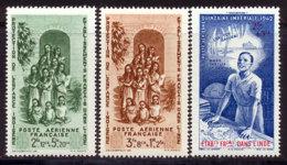 Inde PA 1942 Yvert 7 / 9 ** TB PEIQI Bord De Feuille - Unused Stamps