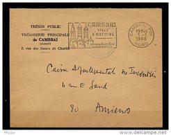 Ar2768 L Franchise Tresor Public Cambrai Pour Amiens (Somme) - Storia Postale