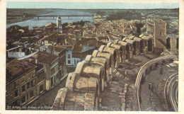Carte Postale Publicitaire Repiquée A LA Maison De Paris à EVREUX Arênes D'Arles Et Le Rhône - Werbepostkarten