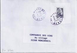 MARIANNE L'ENGAGEE N° 5251 Du BLOC 143 SUR LETTRE DU 3.8.18 - 2018-... Marianne L'Engagée