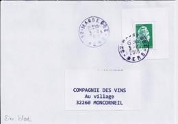 MARIANNE L'ENGAGEE N° 5252 Du BLOC 143 SUR LETTRE DU 3.8.18 - 2018-... Marianne L'Engagée