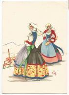 Z5426 Costumi Di Sardegna - Bono (Sassari) - Illustrazioni Illustration Lola Loy - Folklore / Non Viaggiata - Altre Città