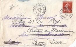 40 - LANDES - MONT DE MARSAN A DAX  TàD DE TYPE CCL2 / 1912 - Poststempel (Briefe)