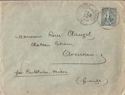 40 - LANDES - PEYREHORADE  TàD DE TYPE A2 / 1905 - Poststempel (Briefe)