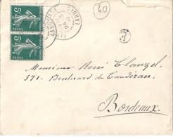 40 - LANDES - PEYREHORADE  TàD DE TYPE A3 / 1910 - Poststempel (Briefe)
