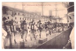 CARTE PHOTO EMBARQUEMENT DE TIRAILLEUR SUR LA NIVE ORAN - 1914-18