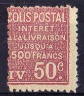 FRANCE (  COLIS POSTAUX ) : Y&T N°  72  TIMBRE  NEUF  SANS  TRACE  DE  CHARNIERE , A  VOIR . - Colis Postaux