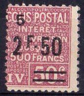 FRANCE (  COLIS POSTAUX ) : Y&T N°  76  TIMBRE  NEUF  SANS  GOMME , A  VOIR . - Colis Postaux